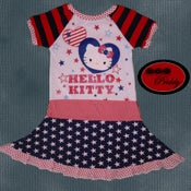 Image of **SOLD OUT** Hello Kitty Patriotic Twirl Dress - size 7/8