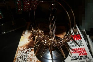 Image of Rose Gold Spiked Hoops