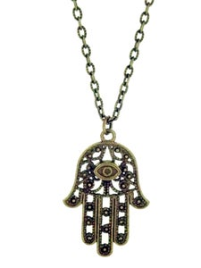 Image of Hamsa Healing Hand Necklace  - Colour Options Available