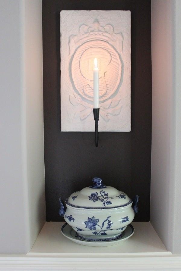 Image of Swedish Gustav III Monogram Candle Sconce