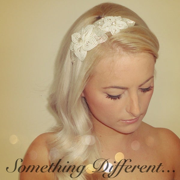 Image of Sophia (Beaded Flower Hairband)