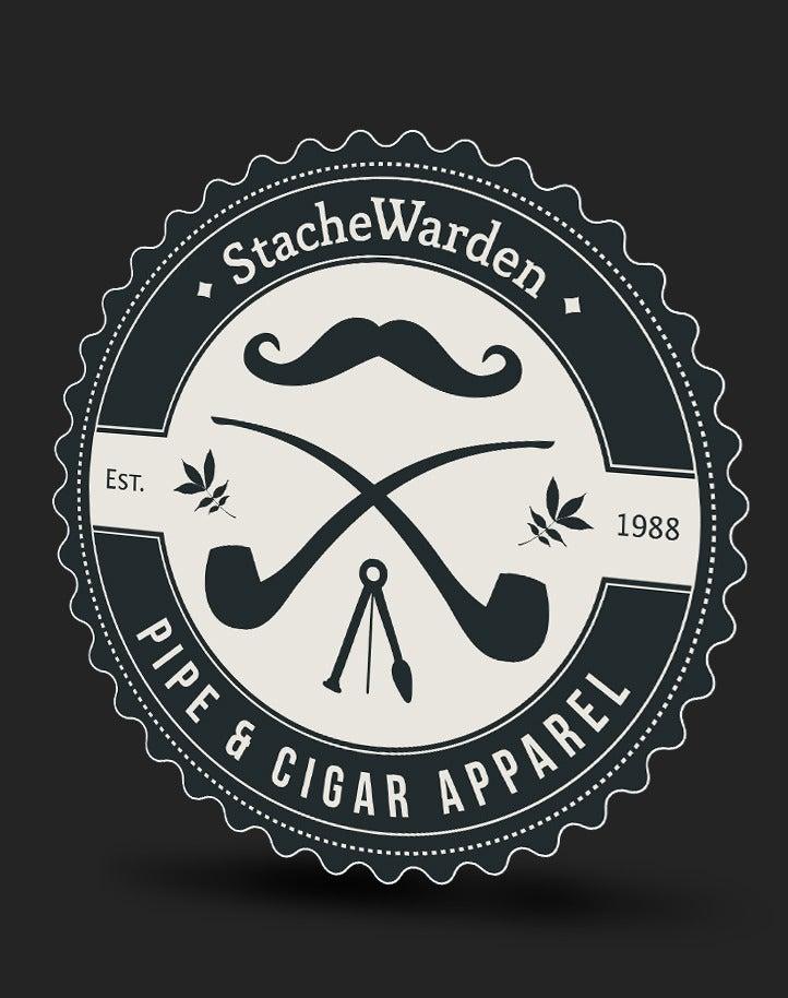 Image of StacheWarden Logo | Stickers