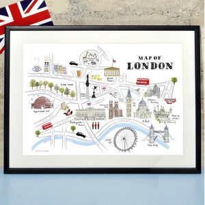 Alice Tait 'Map of London' Print - Alice Tait Shop