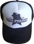 Image of Dub Police Black/White Trucker Cap