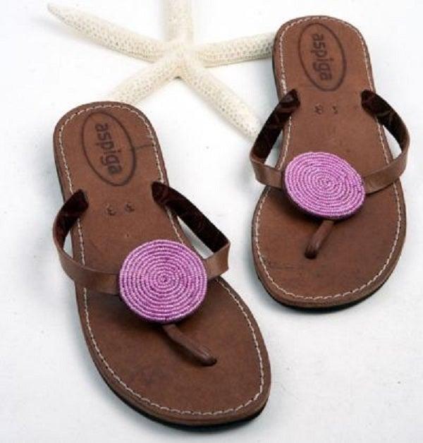 "Image of Aspiga Leather ""Disc"" Sandals"