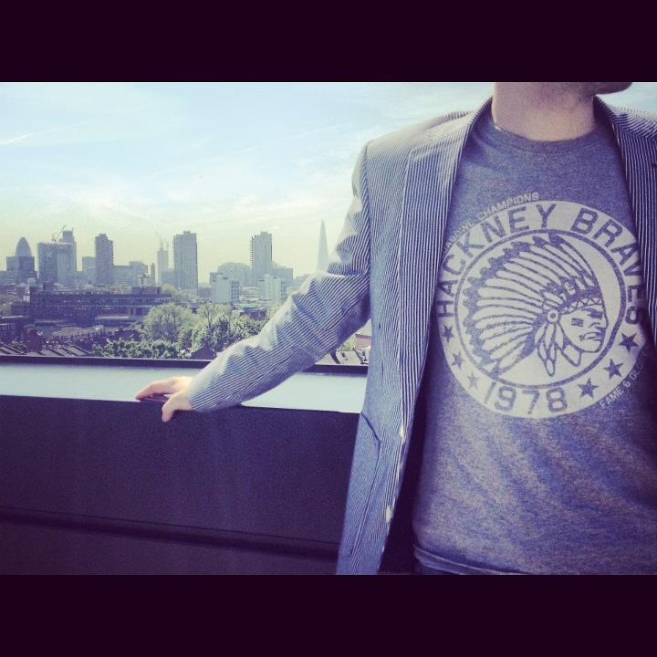 Image of Hackney Braves Vintage Slim-fit Tee (Grey)