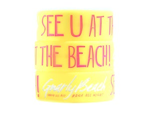 Image of Yellow Bracelet - See U At The Beach!