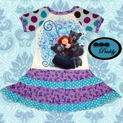 Image of **SOLD OUT** Merida Brave Dress with double ruffles - size 5/6