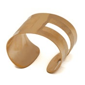 Image of Manchette Dessine-moi un rectangle or / Draw me one rectangle gold cuff