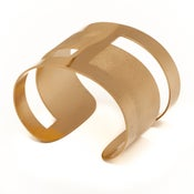 Image of Manchette Dessine-moi deux rectangles or / Draw me two rectangles gold cuff