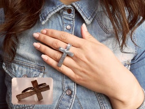 Image of Cross Double Finger Ring