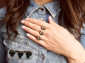 Image of Skull Double Finger Ring