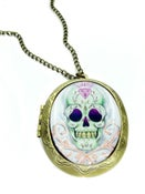 Image of Diamond Sugar Skull Locket