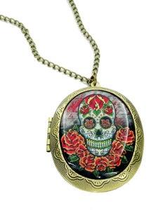 Image of Sugar Skull & Roses Locket