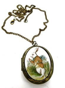 Image of Alice in Wonderland White Rabbit Locket
