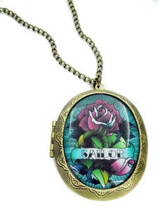 Image of Tattoo Rose Sailor Locket