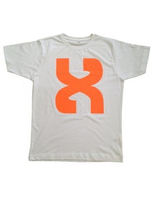 Image of Neon Orange X White Tee
