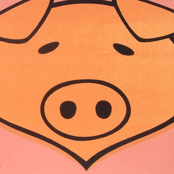 Image of 1 Pig Screen Print Limited Edition
