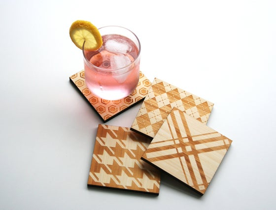 Image of Classic Textile Coasters: Variety Pack