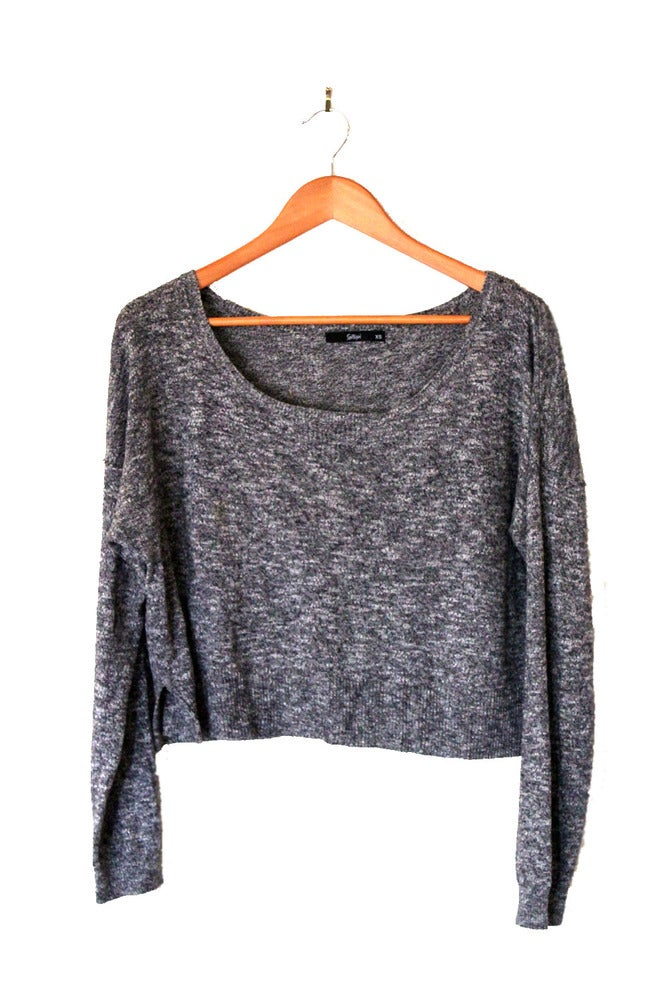Image of Grey Cropped Knit