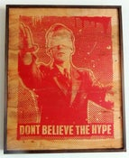 Image of Dont Believe The Hype Red on Wood