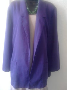 Image of Vintage Grape Blazer Sz 18
