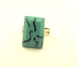 Image of Faux clay turquoise ring
