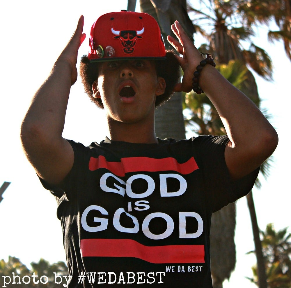 Image of GOD IS GOOD (BLACK TEE )