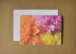 Image of crepe flower trio card
