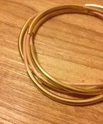 Image of Leather + Gold Wrap Bracelet