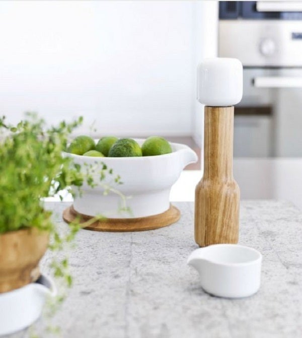 Image of Sleek Spice Mill With Container