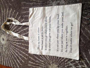 Image of Home Lyric Canvass Bag