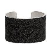 Image of Manchette Caviar argent large / Caviar silver cuff large