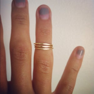 Image of Hammered Knuckle Ring