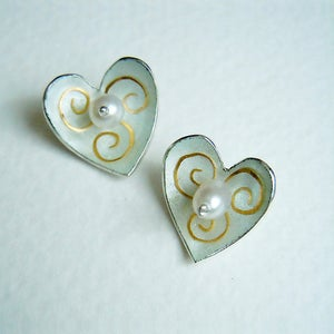 Image of Small Heart and Star Earrings
