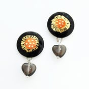 Image of Round Drop Earrings