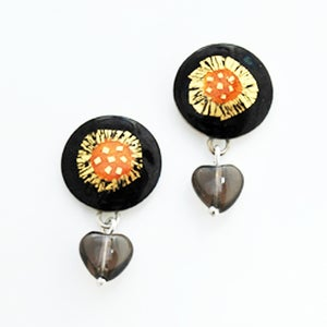 Image of Round Drop Earrings