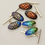 Image of Oval Backed Cufflinks Fishscales