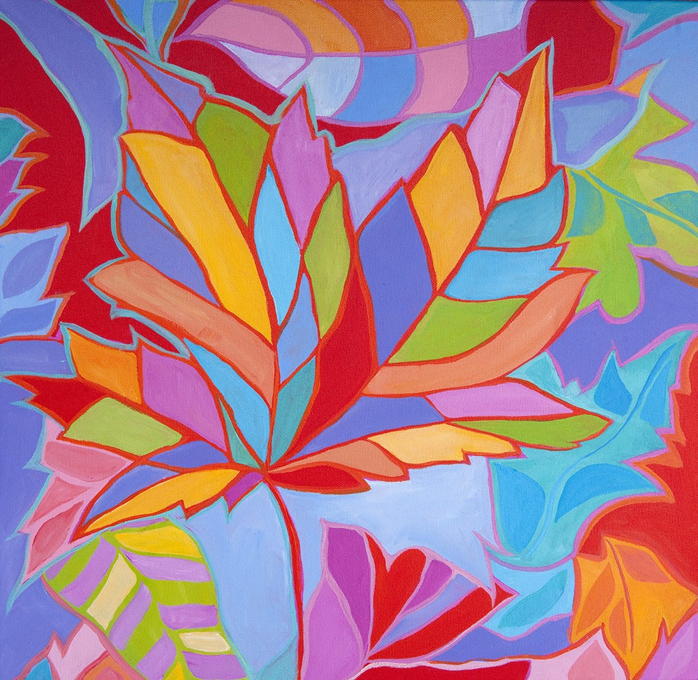 Smoky Mountain Leaves Painting / Inspired Wild Designs