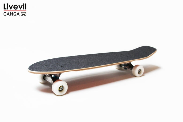 Image of Livevil x Ganga Skateboard Complete Cruiser