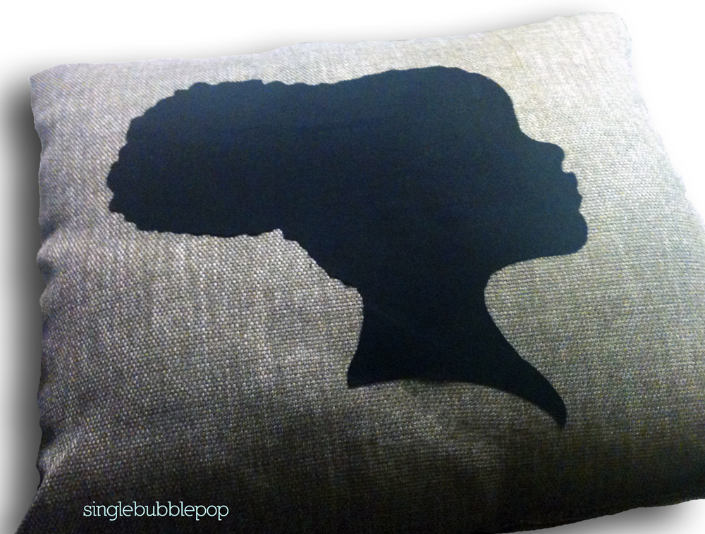 Image of Handmade Afro Puff Pillow Cover