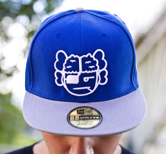 Image of Atama Logo Blue/Grey Snapback Cap #04 (Limited Edition of 30 hats)