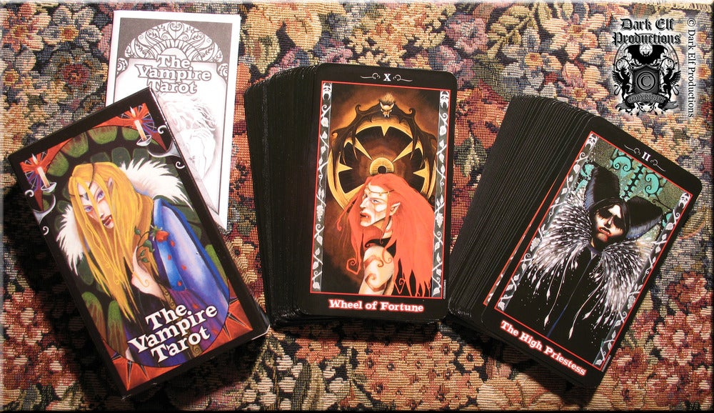 "Image of ""The House Of Bathory"" Dress And Vampire Tarot Deck Set"