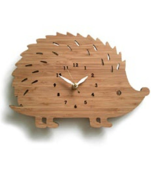 Image of Wooden Hedgehog Clock