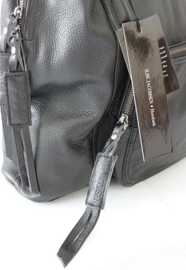 Image of Ilse Jacobsen Classic Leather Bag (Black)