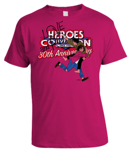 Image of HEROESCON 2012 T-SHIRT :: LOVE AND ROCKETS BY JAIME HERNANDEZ :: PINK