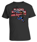Image of HEROESCON 2012 T-SHIRT :: LOVE AND ROCKETS BY JAIME HERNANDEZ :: GRAY