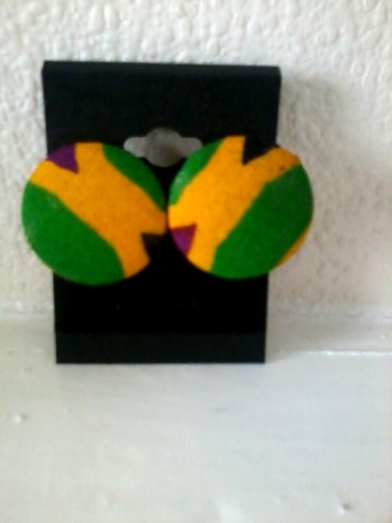 Image of Vekras multicolour kente handmade Stud Earrings