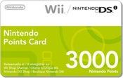 Image of TARJETA-- 3000 Wii DSi PUNTOS PAL EUROPA EU