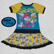 Image of **SOLD OUT** Smurfs Twirl Dress by Sew Priddy size 9/10